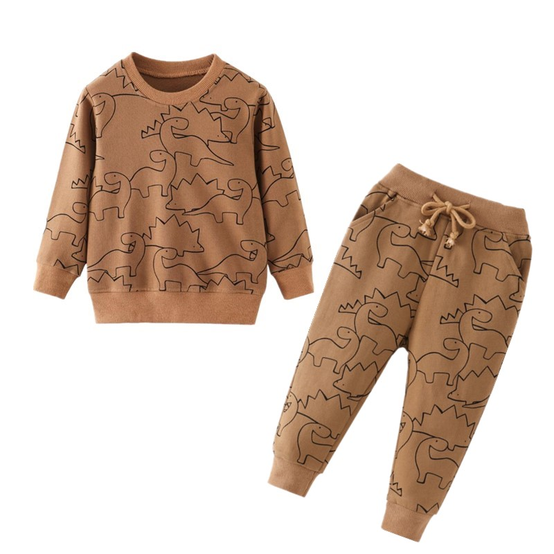 Dinosaur Children Kids Clothing Sets Cartoon Spring Cotton Shirt and Pants Boys Long Sleeve Clothing Suits Kids Winter Sets