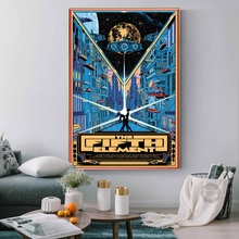 The Fifth Element Classic Sci-Fi Movie Bruce Willis Art Painting Silk Canvas Poster Wall Home Decor