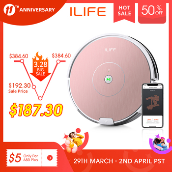 ILIFE NEW A80 Plus Robot Vacuum Cleaner Smart WIFI App control Powerful suction Electronic wall cleaning 1