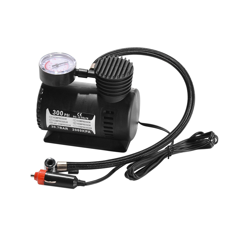 DC 12V 300Psi Car Tire Inflator Auto Portable Air Compressor Pump Tyre Inflator Pressure Pump Rubber Electric Portable Dinghy
