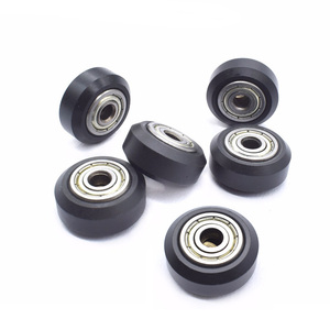 5pcs/lot CNC Openbuilds Plastic wheel pom with 625zz idler pulley gear passive round wheel perlin wheel for Ender 3 CR10 CR-10S(China)