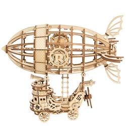 Robotime diy Airship 3d Wooden Puzzle, Brain Teaser, Construction Set for Teens