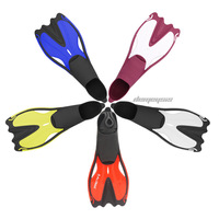 Adult Diving Flippers Anti slip Soft Underwater Swimming Snorkeling Flippers Outdoor Comfortable Portable Swimming Diving Fins