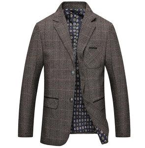 Image 3 - Mwxsd men casual woolen Suit Blazer jacket Mens Slim fit Suits Casual male blazer Suit Jacket blazer masculino homme