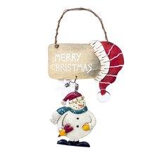 Придверный, с рождественскими мотивами знак Снеговик цветной печати праздник висячие украшения для отеля торговый центр Ресторан