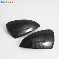 For Toyota Rush 2018 2019 2020 Carbon Fiber Rear View Side Door Mirror Cover Cap Trim Molding Garnish Overlay Decoration Styling