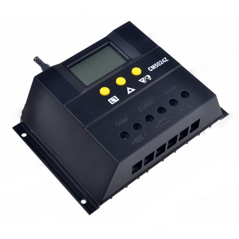 Solar Charge Controller PWM 50A//60A 12V//24VDC or 48V Battery Charger Regulator