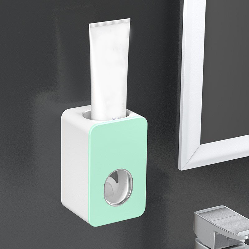Toothpaste Squeezers New Automatic Toothpaste Dispenser Dust-proof Toothbrush Holder Wall Mount Stand Bathroom Accessories Set