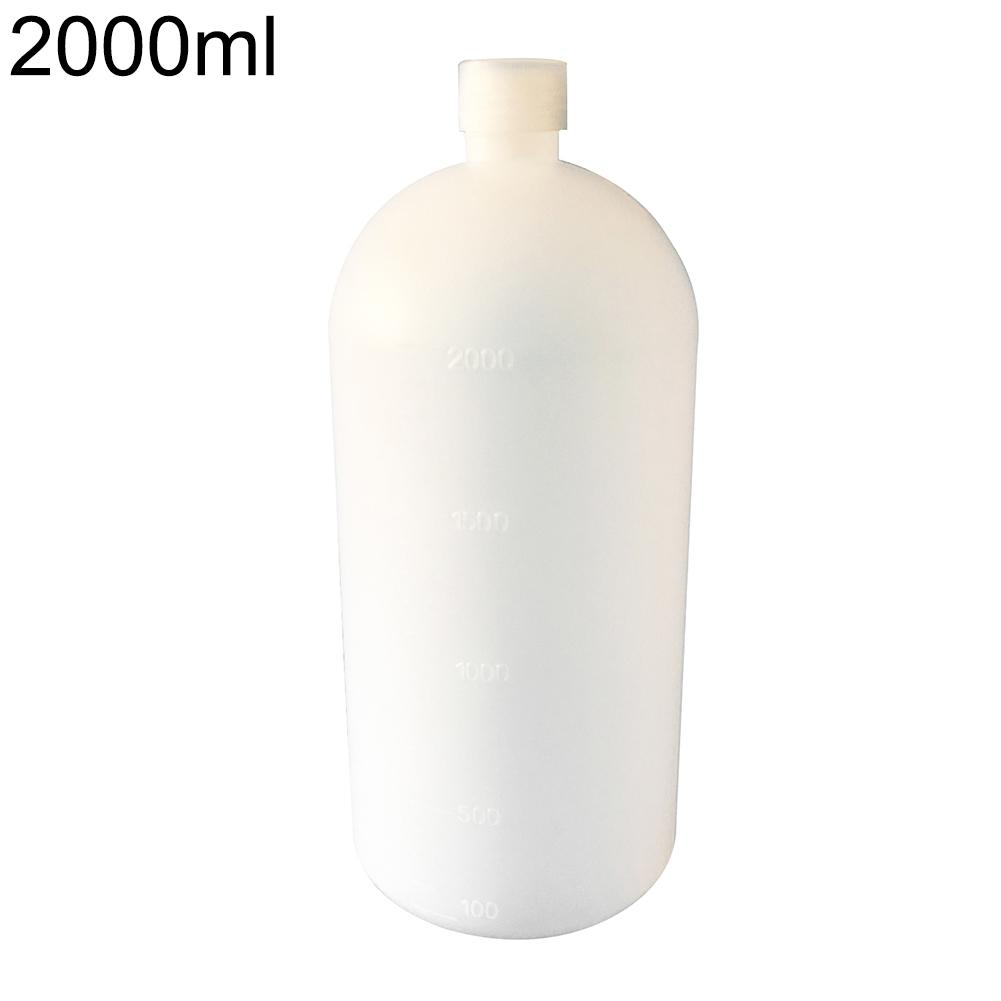 2000ml Clear Plastic Lab Seal Chemical Bottle Sample Bottle Storage Container Easy To Clean
