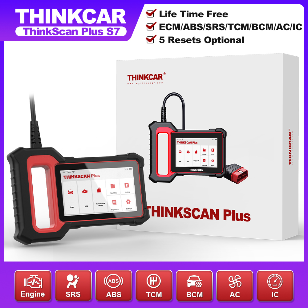 5-inch Touch Screen OBD2 Scanner Car Diagnostic Tool ABS/SRS/ECM System Scanning Plug&Play Code Reader Free Update