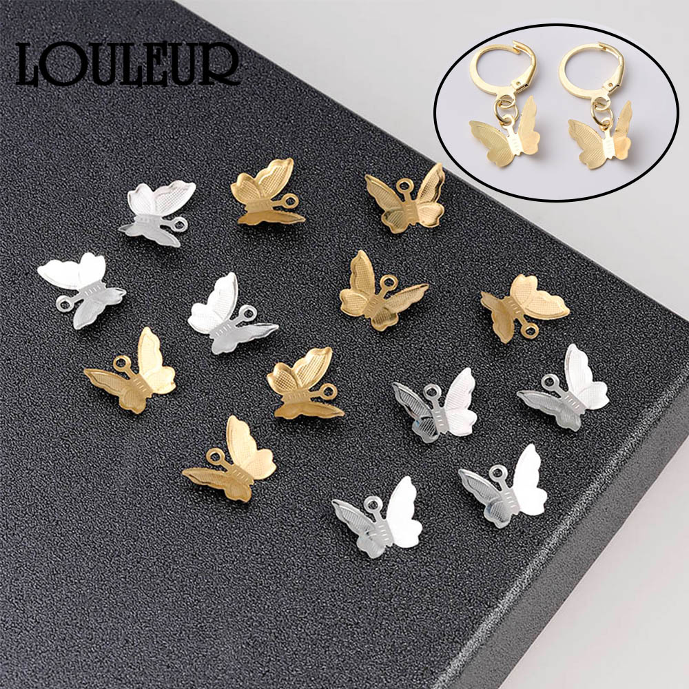 20pcs Copper Brass Butterfly Pendant Charms For Necklace Bracelet Earrings Butterfly Jewelry Making Findings Accessories