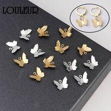 Papillon pendentif breloques, laiton, 20 pièces, accessoire de fabrication de bijoux, collier, bracelets, boucles d'oreilles, papillon