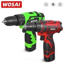 WOSAI New Loner 16V wiertarka akumulatorowa potężny śrubokręt Mini sterownik bezprzewodowy i wiertarka do drewna DC bateria litowo-jonowa