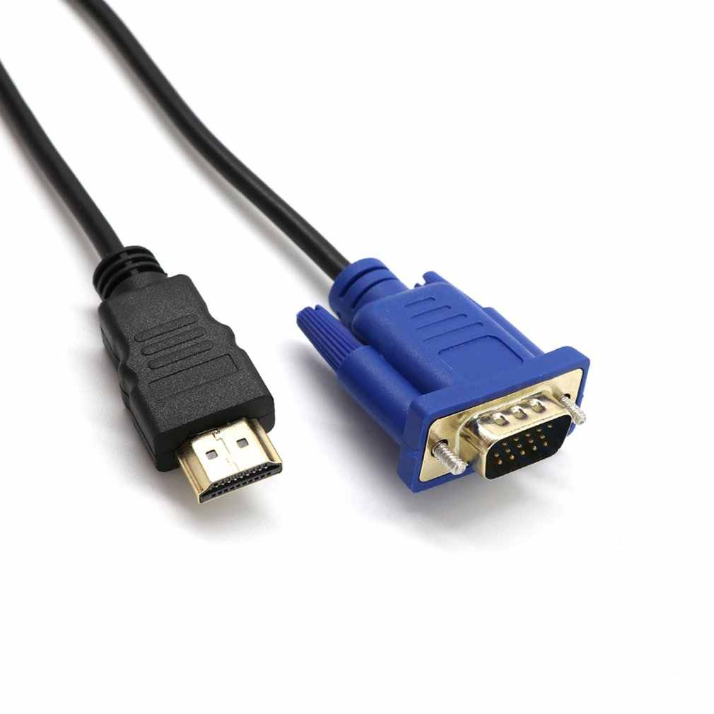 HDMI untuk Vga HD Converter Kabel Audio Kabel D-SUB Pria Video Adaptor Kabel Timah untuk HDTV PC Monitor Komputer untuk PC Laptop TV