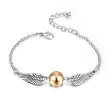 Harri Potter Gold Bracelet Magic Potters Snitch Birthday Christmas Adults Kids Girls Boys