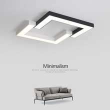 Black+White modern led ceiling lights for bed room study room Simple ceiling light Round/Square Ceiling Lamp light fixtures modern led ceiling light square