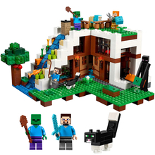 New My World Series The Waterfall Base Compatible Lepiningl My World 21134 Brick 4 Buildin Blocks Toys for kid Birthday Gift