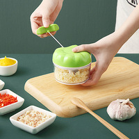 수동 마늘 프레스 다기능 마늘 그라인딩 쵸퍼 식품 야채 커터 고기 분쇄기 주방 가제 마늘 인공물