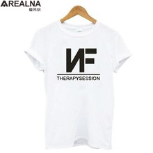 NF Therapysession Letter Print tshirts cotton Women Tshirt Summer top plus size Short Sleeve white black Hipster Tee Shirt Femme(China)