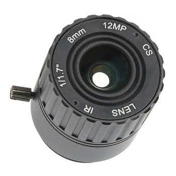Obiektywy kamery przemysłowej 12MP obiektyw F1 2 1 2 5 interfejs CS 69 5 #215 55 6 #215 40 3 panoramiczny F1 2 otwór względny 8mm dla kamery monitorujące CS tanie i dobre opinie VBESTLIFE Other AE (pochodzenie)