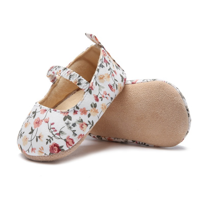0-18M Spring Baby Girls First Walkers Soft Sole Non-Slip Floral Princess Casual Shoes