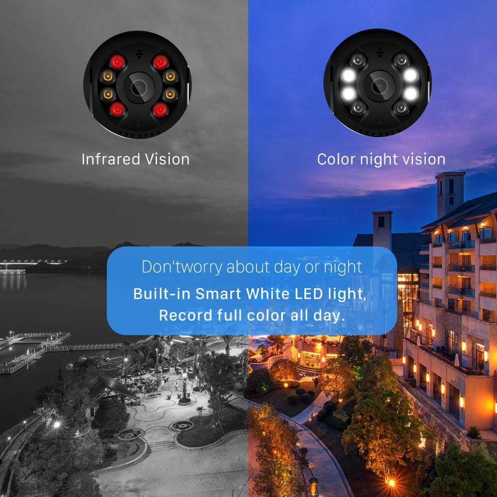 Wifi IP Camera Outdoor 4X Digital Zoom AI Human Detect Wireless Camera 5