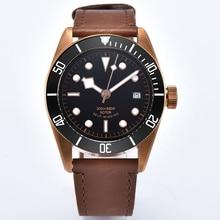 41mm Mechanical wristWatches Corgeut black case Miyota 、Seagull Sapphire Glass Waterproof swim Lum