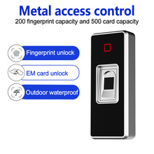 Waterproof metal access control fingerprint sensor card access control with remote control  WG26 reader for home security