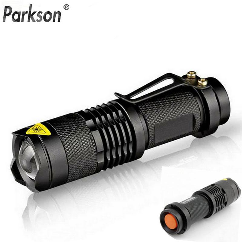 Super powerful led Flashlight Q5 2000lm Torch 3 Modes Waterproof Flash Light Zoomable Self Defense no tazer shock Mini Penlight