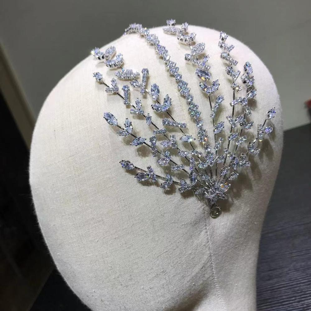 ASNORA Unique Crystal Headband Wedding Hair Accessories Bride Wedding Crown, Princess Birthday Tiaras, Parade Prom Accessories