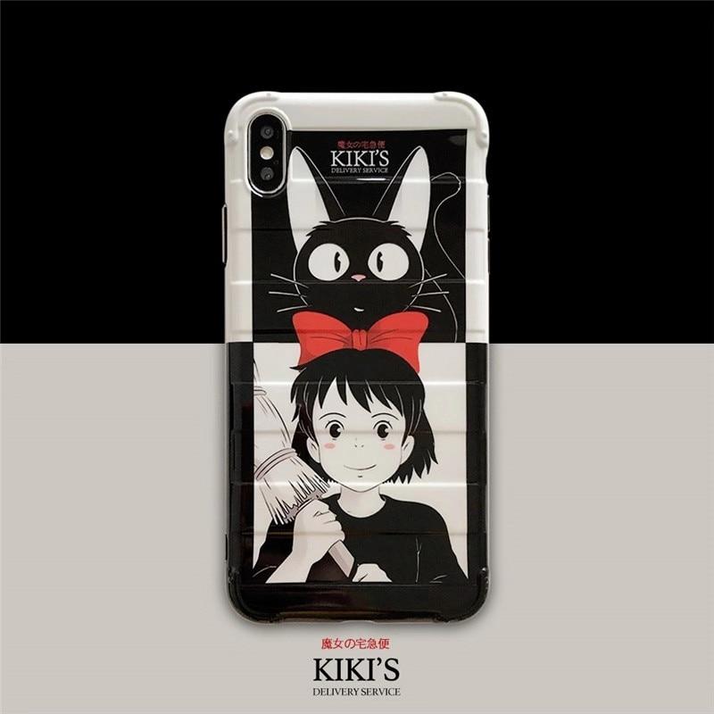 Japanese Cartoon Luna Magical Girl phone case For iphone XS MAX XR X 6 6s 7 8plus Soft TPU Back Cover Case