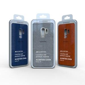 Image 2 - Новинка 100%, Оригинальный чехол из натуральной кожи для Samsung Galaxy S9, S9 plus, S9 +, алькантара, Роскошный чехол премиум класса, искусственная кожа