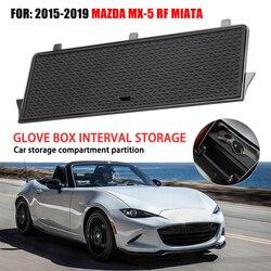 Car organizer konsoli środkowej schowek na rękawiczki dla Mazda MX-5 RF MIATA 2019 organizery ABS plastikowy pojemnik do przevhowywania schowek na rękawiczki akcesoria samochodowe