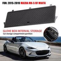 Centro do carro console organizador caixa de luva para mazda MX-5 rf miata 2019 organizadores plástico abs armazenamento luva caixa acessórios do carro