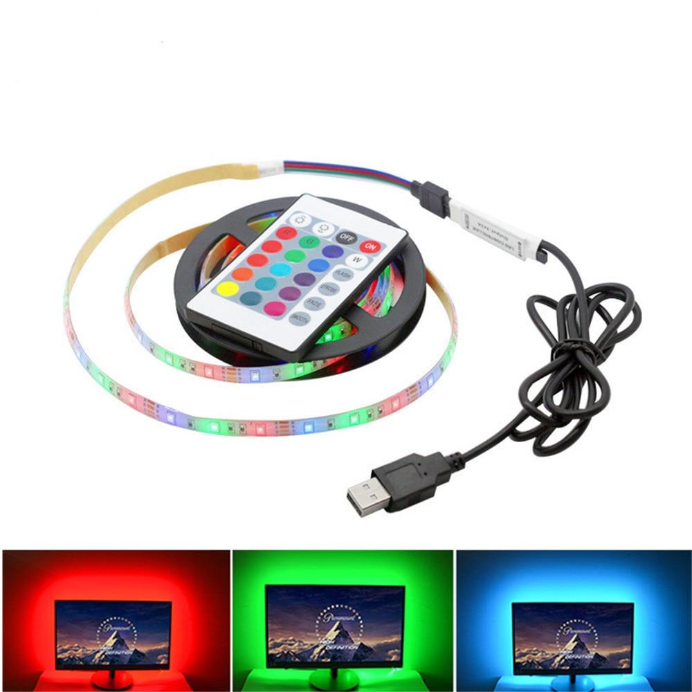 Usb Led Strip Light Rgb Tape For PC TV Backlight Car Flexible Neon Ambilight Ribbon Tira LED Strip Lights 5V SMD 2835 Ruban Lamp