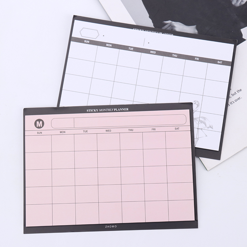 1PC/30 Sheets Creative Study Work Plan Memo Pad Kawaii Weekly Plan Sticky Notebook Office School Supplies Stationery