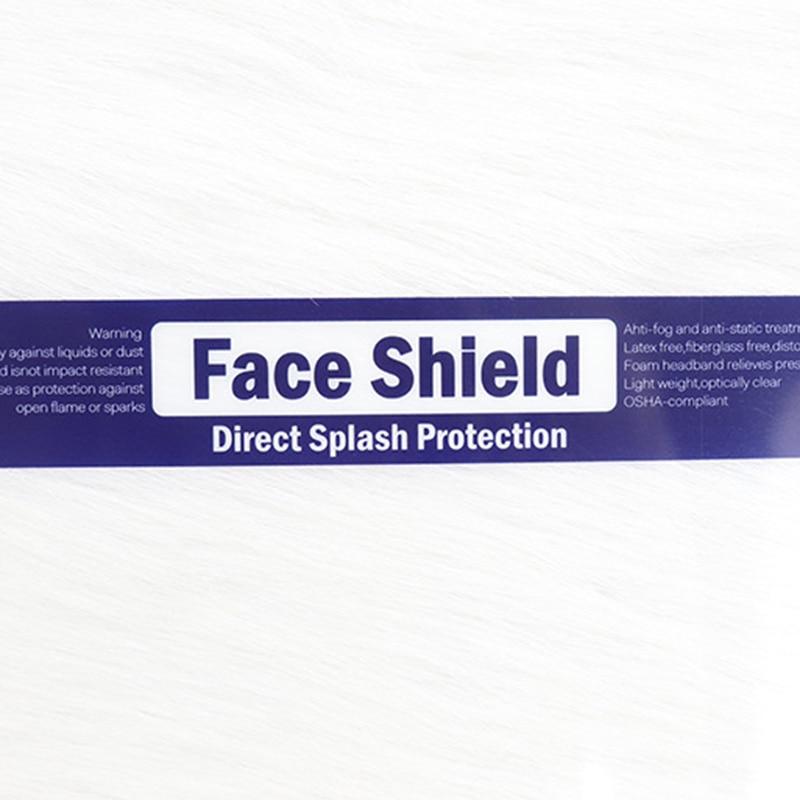 1PC Splash-proof Dust-proof Mask Head-mounted Transparent Mask Adjustable Reusable Elastic Face Mask Home Outdoor Fitness TSLM1 6