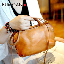 купить EUMOAN Hand-shoulder shoulder back portable female models leather leather vegetable tanned leather Messenger bag small retro по цене 3541.18 рублей