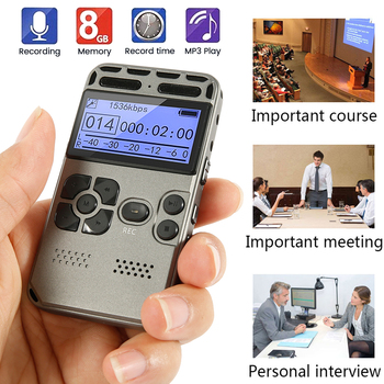 Voice-Activated Recording One-Button Record 8G Capacity 6