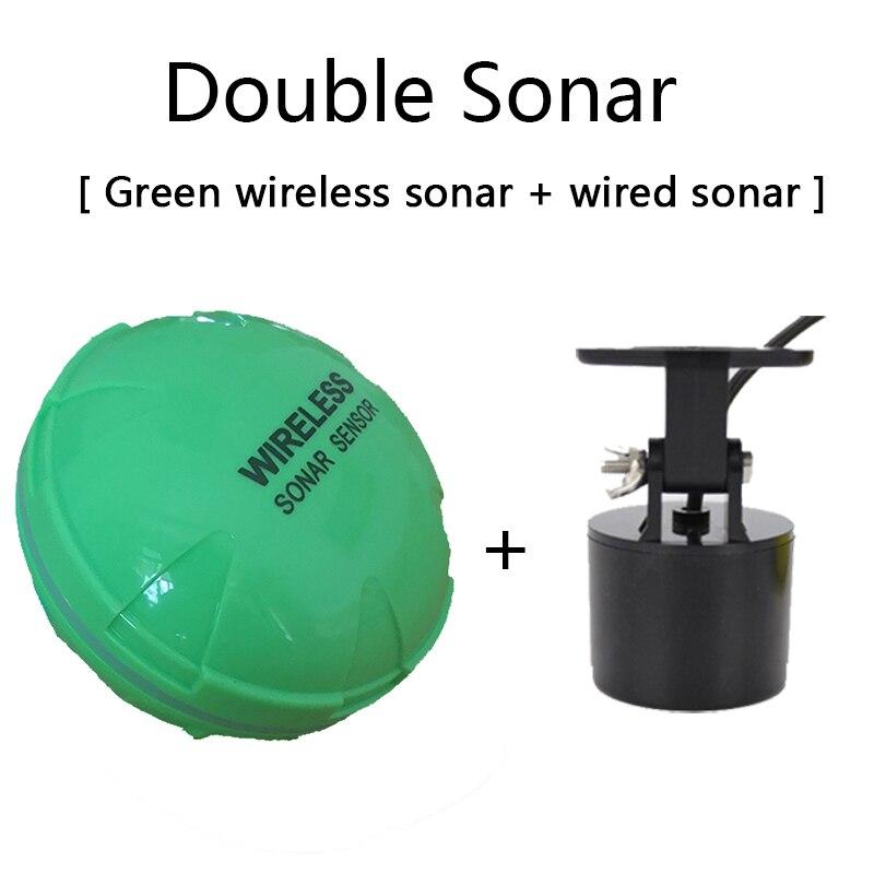 Портативный рыболокатор Bluetooth беспроводной эхолот Sonar сенсор глубина эхолот для озера море Рыбалка IOS и Android - Цвет: double sonars