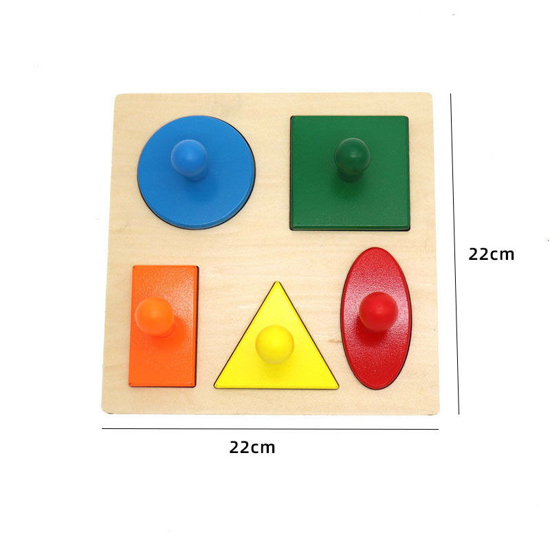 Kids Wooden Montessori Toys Memory Match Stick Educational Color Cognitive Geometric Shape Puzzles Toys For Children 42