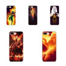 Soft TPU Shockproof For Galaxy Alpha Note 10 Pro A10 A20 A20E A30 A40 A50 A60 A70 A80 A90 M10 M20 M30 M40 X Men Dark Phoenix(China)