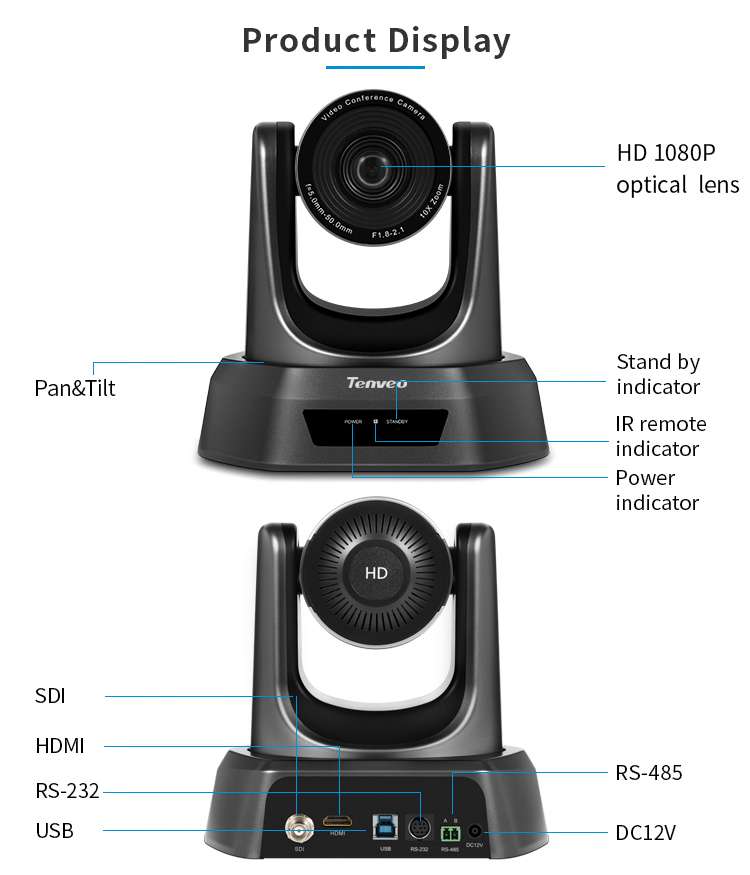 [Estoque da ue] livre de impostos nv10a 10x zoom 2mp 1080p ptz câmera de vídeo conferência usb 3g-sdi e hdmi 3 saídas para transmissão multimídia-2