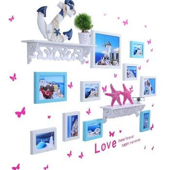 Living room frame photo wall photo frame wall combination creative decoration photo wall hanging wall irregular background wall
