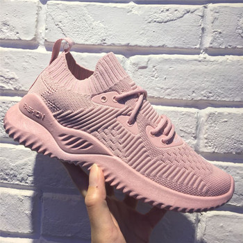 Women Sneakers Breathable Outdoor Walking Shoes Woman Mesh Casual Shoes Pink Lace-Up Ladies Shoes Fashion 2020 Female Sneakers women sneakers breathable outdoor walking shoes woman mesh casual shoes white lace up ladies shoes 2019 fashion female sneakers