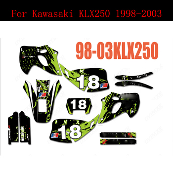 1998-2003 For Kawasaki KLX 250 Motorcycle Graphics Stickers Background Decals 1998 1999 2000 2001 2002 2003