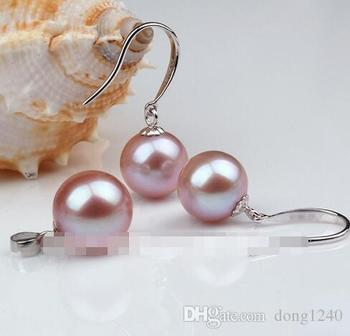 Free Shipping set of 8MM Southern Sea NATURAL genuine round perfect pink pearl