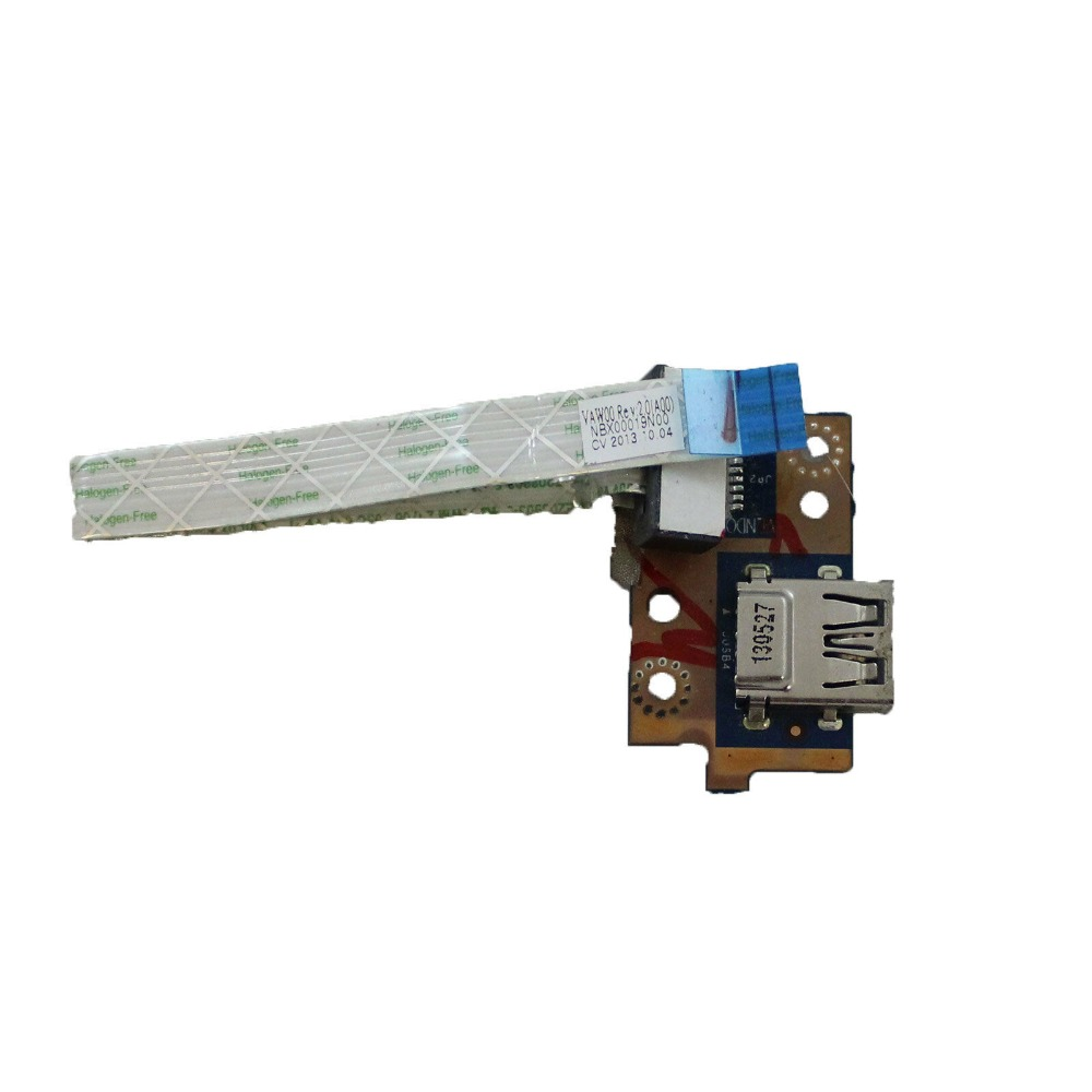 "75PM1 LS-9102P For Dell Inspiron M531R 5535 3521 5521 15.6"" Genuine USB Port Board w Cable(China)"