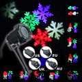 10 patrones Navidad Snowflake césped lámpara LED al aire libre película impermeable tarjetas láser Hada proyector luces para casa jardín