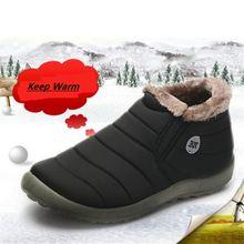 Водонепроницаемые женские зимние ботинки унисекс теплые с мехом